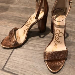 Sam Edelman Yaro Metallic Copper Heals